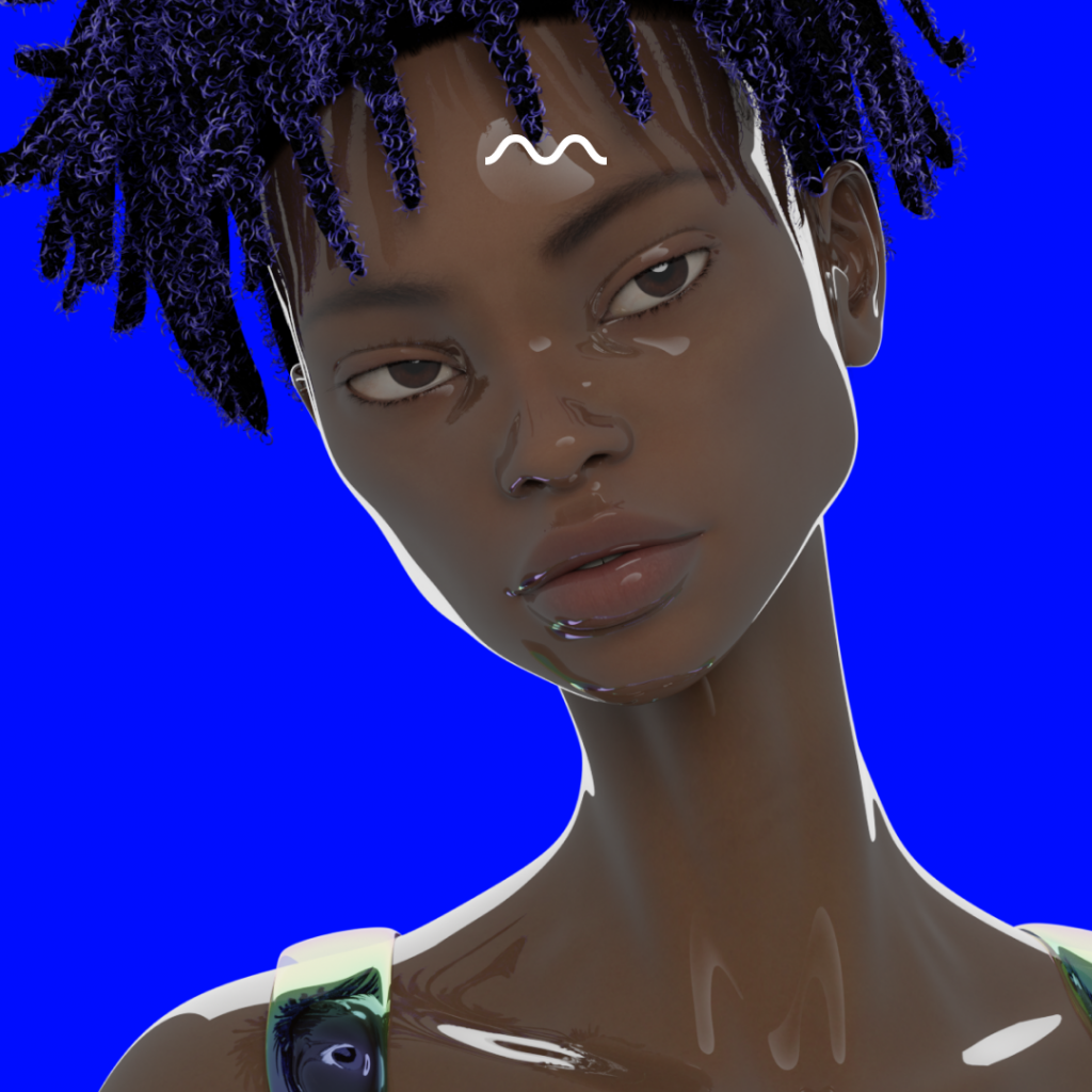Nimeli — AI DJ, a virtual avatar by Mubert & Sensorium